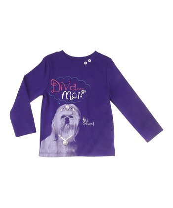 Plum Diva Dog Long-Sleeve Tee - Toddler & Girls