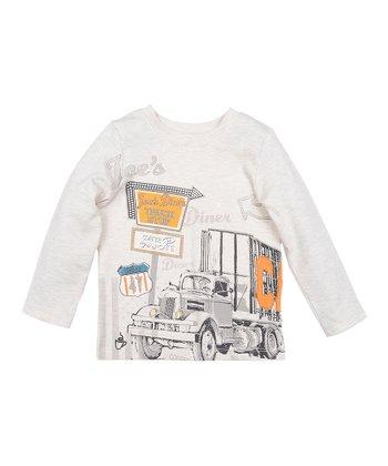 Oatmeal Truck Stop Long-Sleeve Tee - Toddler & Boys