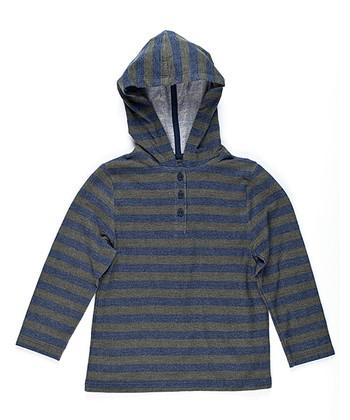 Midnight Blue Stripe Hoodie - Toddler & Boys