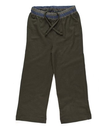 Green French Terry Pants - Toddler & Boys