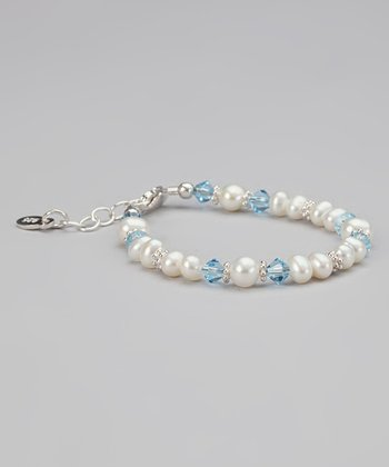 March Birthstone & Pearl Bracelet