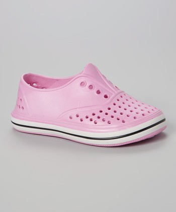 Chatties Light Pink Perforated Slip-On Sneaker