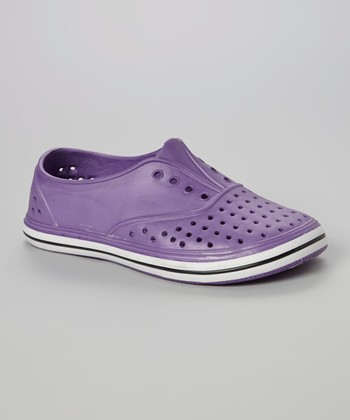 Chatties Purple Perforated Slip-On Sneaker