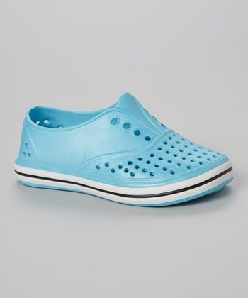 Chatties Turquoise Perforated Slip-On Sneaker