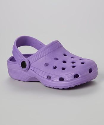 Chatties Purple Clog