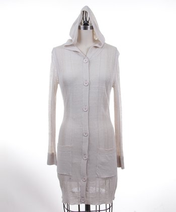 Dolce Cabo Oyster Hooded Button-Up Duster - Women