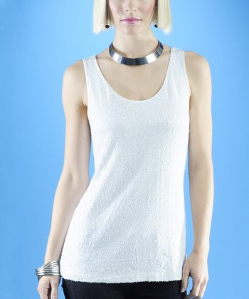 Dolce Cabo White Sequin Tank - Women