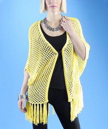 Dolce Cabo Sunshine Crochet Tassel Open Cardigan - Women