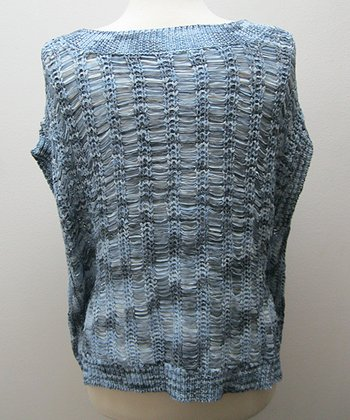 Dolce Cabo Indigo Raffia Dolman Sweater - Women
