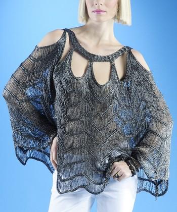 Dolce Cabo Tahitian Pearl Cutout Dolman Sweater - Women