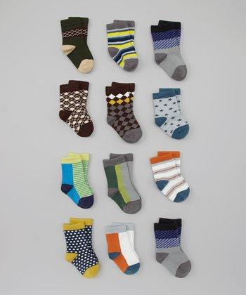 See Kai Run Blue & Green Socks Set