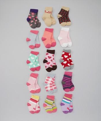 See Kai Run Pink & Purple Socks Set