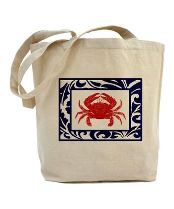 Natural Fab Crab Tote Bag