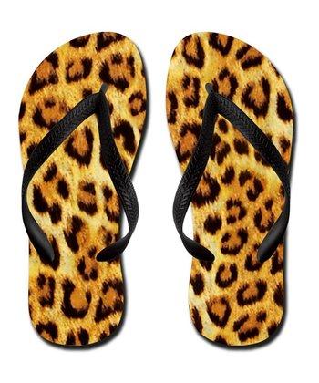 Tan Leopard Flip-Flop