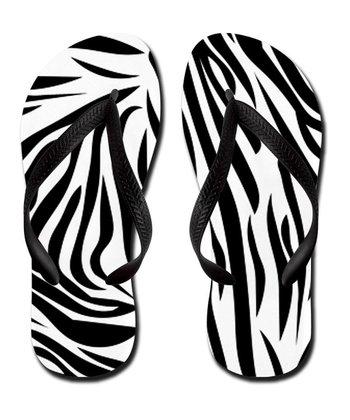 Black & White Zebra Flip-Flop