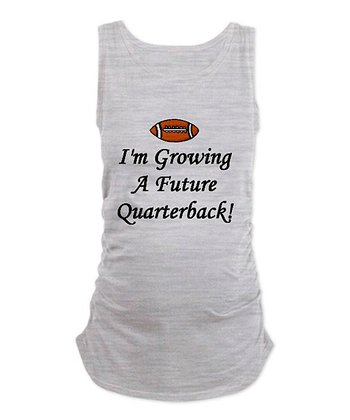 Ash Gray 'Quarterback' Maternity Sleeveless Tee - Women & Plus
