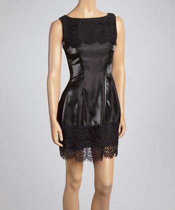 Ju's Black Moonlight Lace Sleeveless Dress