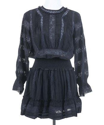 Ju's Black Endless Lace Dress