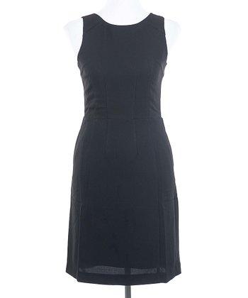Ju's Black Lace Back Sleeveless Dress