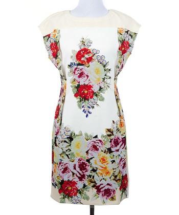 Ju's White Floral Fame Dress