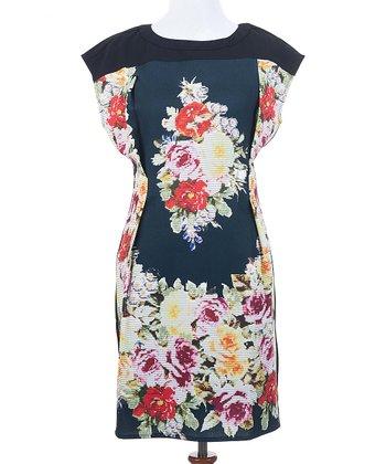 Ju's Black Floral Fame Dress