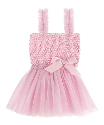 GANZ Light Pink Crocheted Babydoll Dress