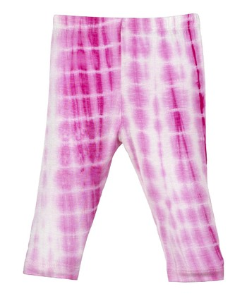 GANZ Pink & White Tie-Dye Tunic & Leggings