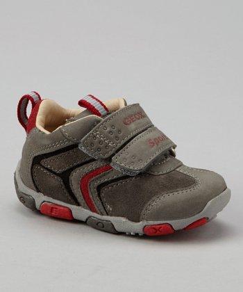 Geox Stone & Red B Balu' Sneaker