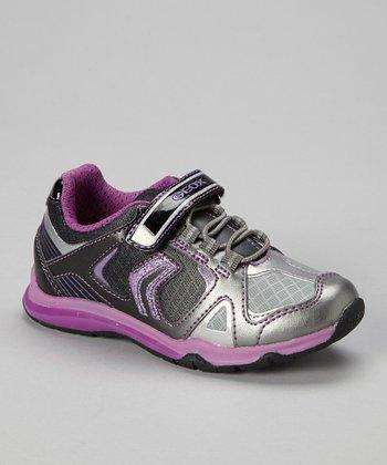 Geox Black & Violet Jr Magica Sneaker