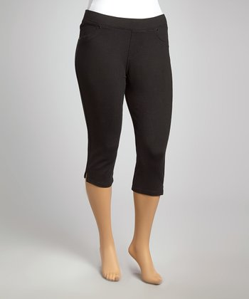 Black Classic Cropped Jeggings - Plus