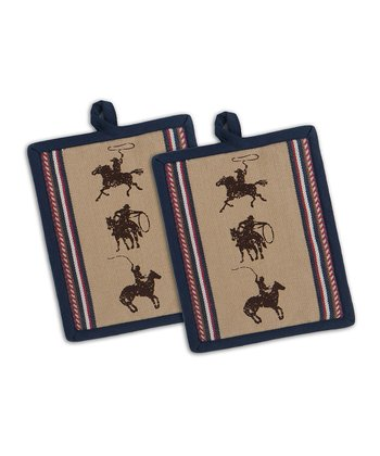 Cowboy Pot Holder - Set of Two