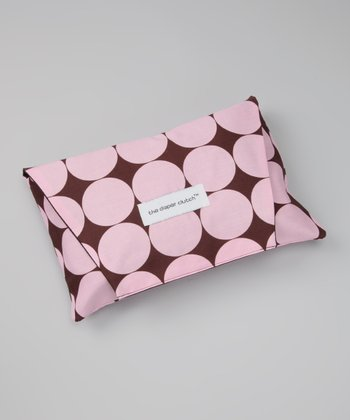 Pink Disco Dot Diaper Clutch