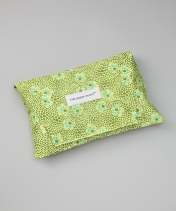 Olive Forget Me Not Diaper Clutch