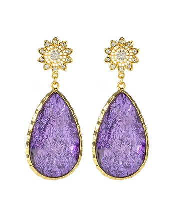 Violet Cassia Spring Drop Earrings
