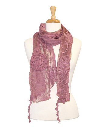 Purple Vintage Lace Scarf