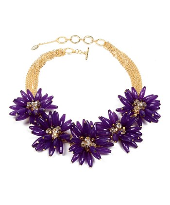 Gold & Purple Botanical Necklace