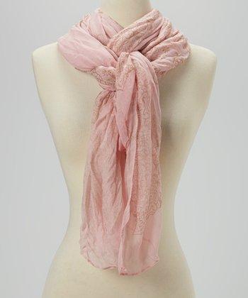 Joy Accessories Light Pink Paisley Scarf