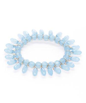 Blue Lucite Teardrop Stretch Bracelet