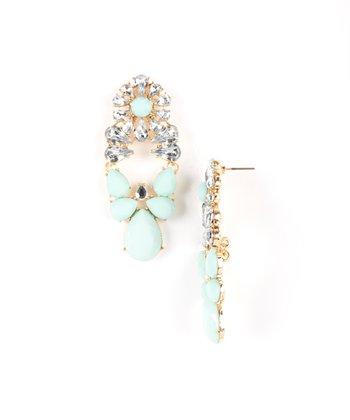 Mint Lauren Drop Earrings