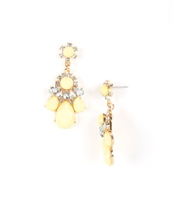 Yellow Elenna Drop Earrings