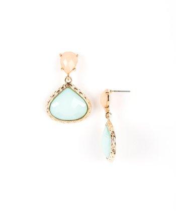 Mint & Peach Allison Drop Earrings
