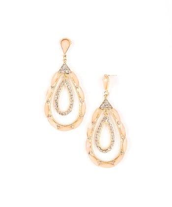 Peach Krystle Drop Earrings
