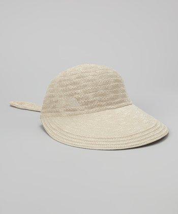 Biacci Sand Crocheted Jockey Cap