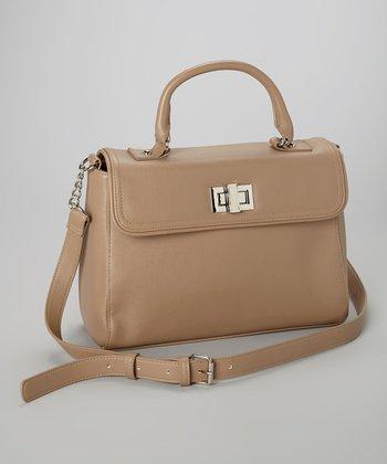Capelli New York Brown Turnlock Shoulder Bag
