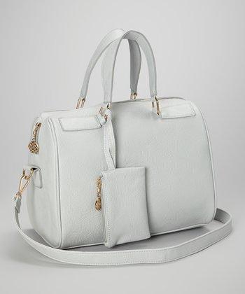 Capelli New York Gray Top Handle Crossbody Bag & Coin Purse