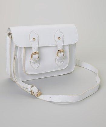 Yoki White & Gold Buckle Crossbody Bag