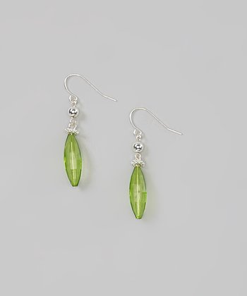 Red Water Designs Green Fishhook Earrings