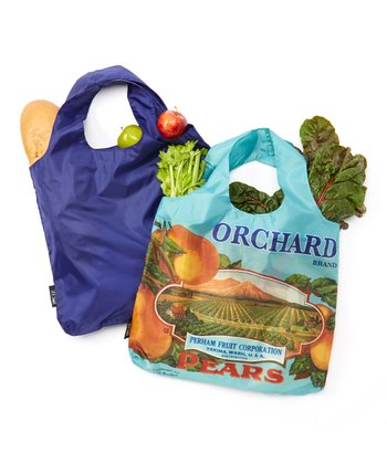 Pear Crate Reusable Shopping Bag - Set of Two