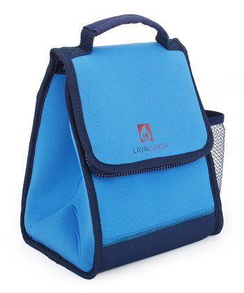 Blue Fire Lunch Tote & Lava Rocks