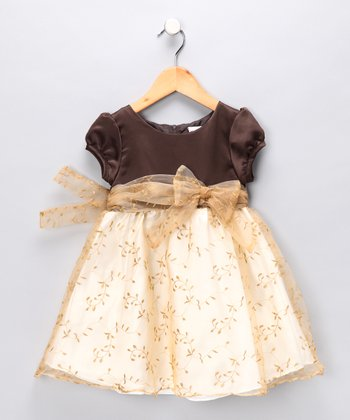 Gold Leaf Dress - Infant, Toddler & Girls
